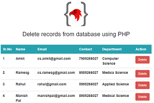 how-to-delete-records-from-a-database-with-php-output-screen