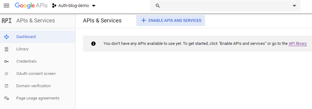 login-with-google-account-using-javascript-oauth-create-project-step-4-enable-api